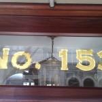 Matte fill w/mirror outline in 23 karat gold - NYC